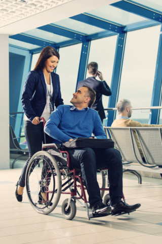 Disabled Man at Airport